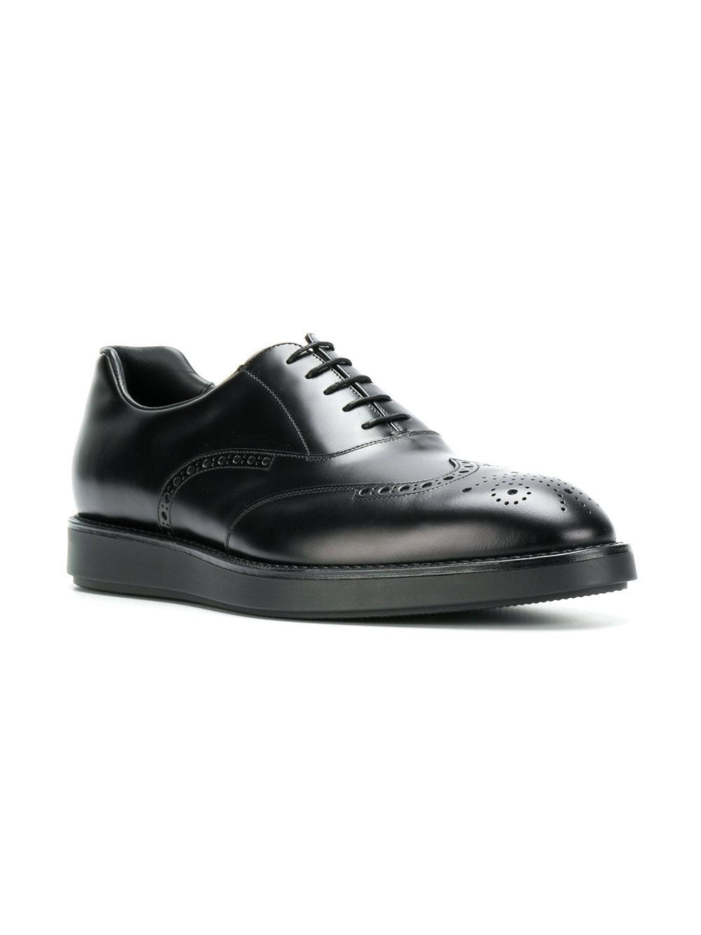 8be56203f446 Prada Lace-up Shoes in Black for Men - Lyst