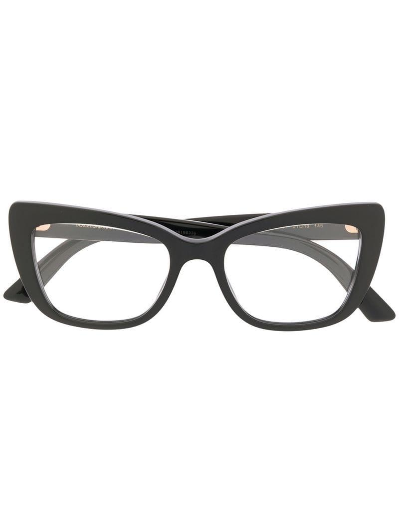 1906c3391db3 Lyst - Dolce   Gabbana Cat Eye Frame Glasses in Black