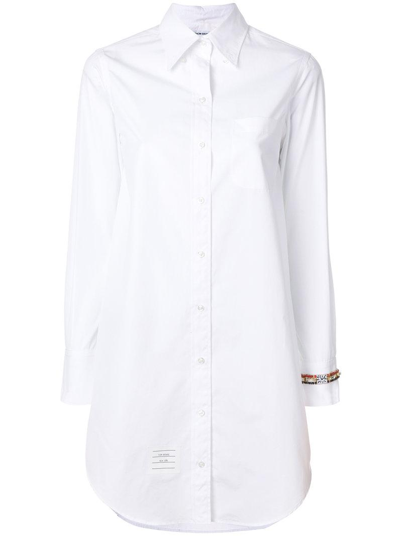 White Classic Button-Down Point Collar Shirt Thom Browne Sneakernews Cheap Online Ebay Sale Online Get Authentic Cheap Online Discount Release Dates Cheap Price YGJ4dOm