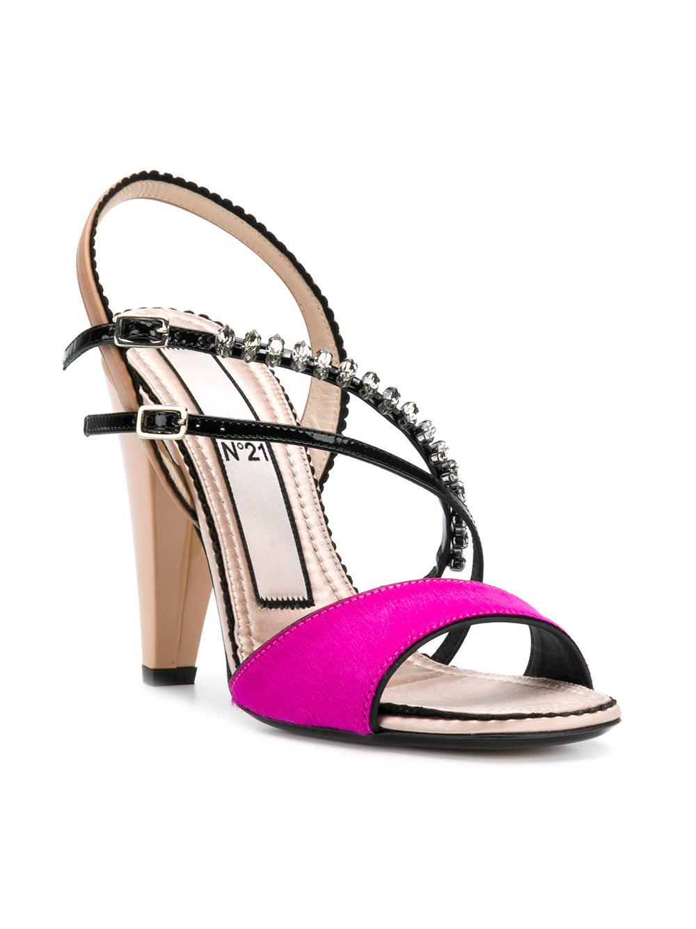strappy slingback sandals - Pink & Purple N°21