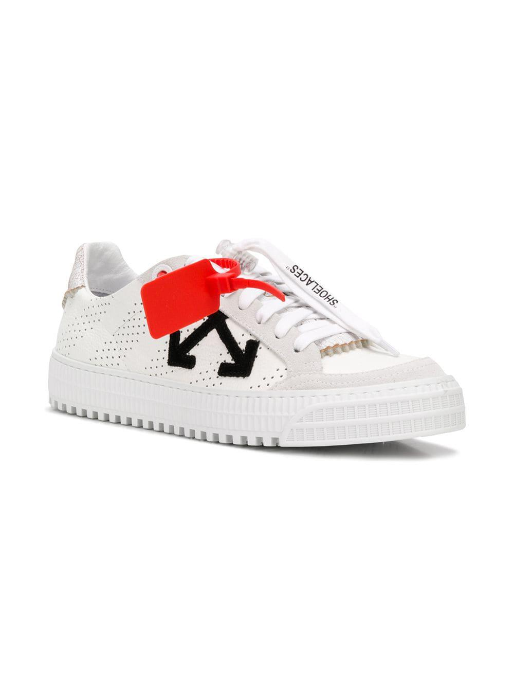 8092d442fd157 Lyst - Off-White c o Virgil Abloh Arrow Sneakers in White for Men - Save 26%
