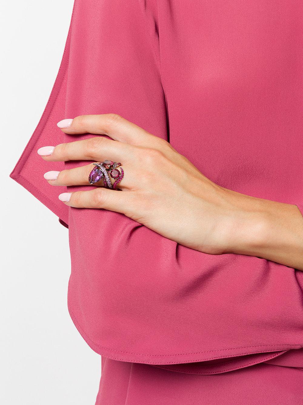 Lyst - Shaun Leane Aurora Couture Set Of Rings in Metallic