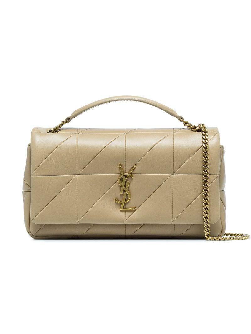 Saint Laurent. Women s Natural Nude Jamie Patchwork Leather Shoulder Bag 3580438811e87