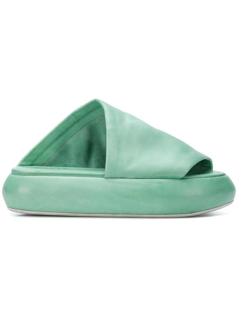 open toe slides - Green Mars TBzho