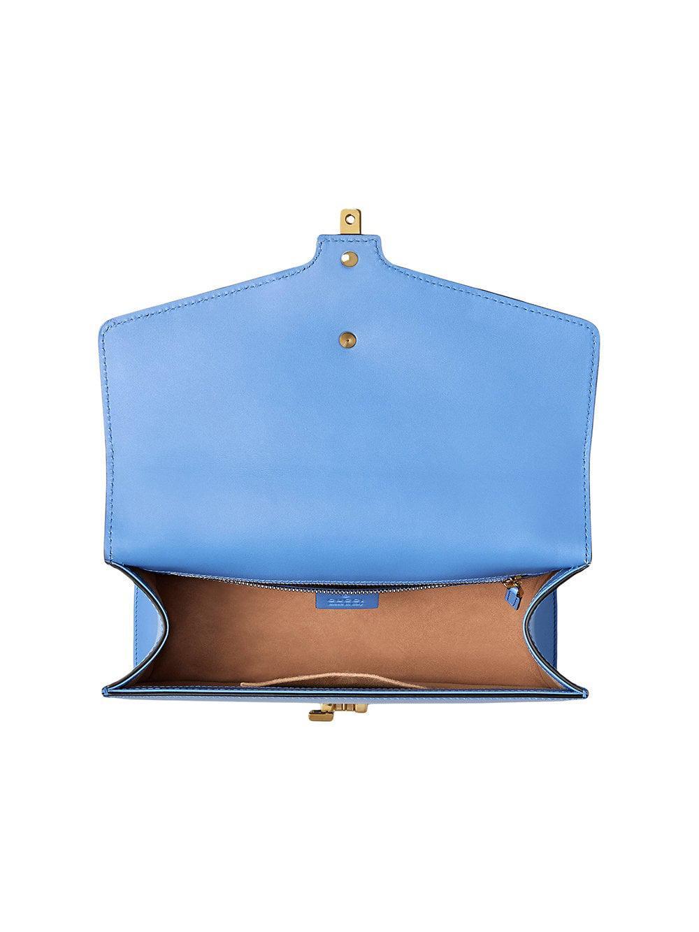 1de95a15ad4 Lyst - Sac porté épaule Sylvie Gucci en coloris Bleu