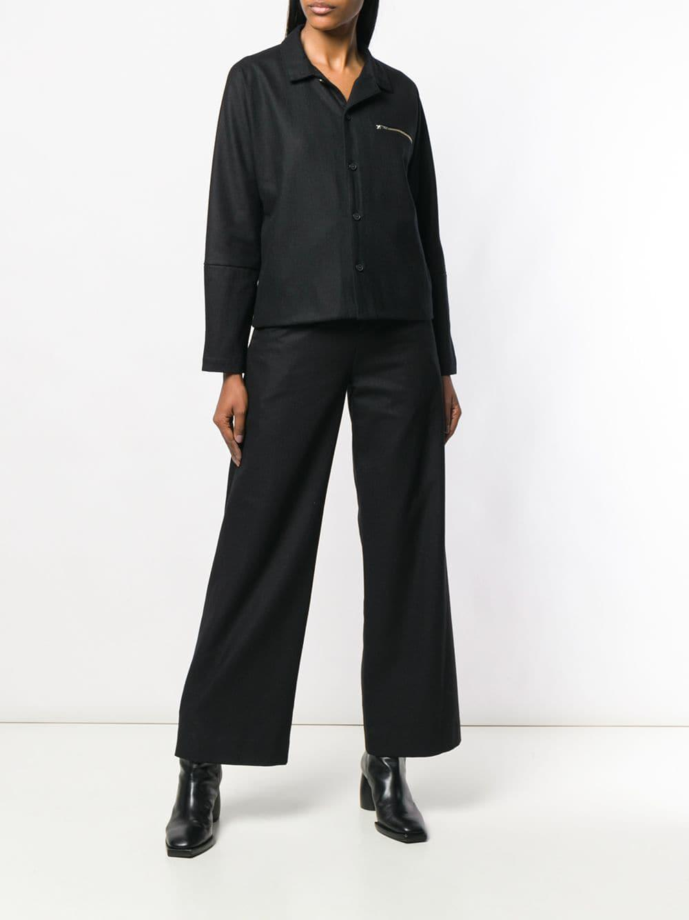 Flared Black Stephan Schneider Pins Trousers Lyst In 6gvY7Iybf