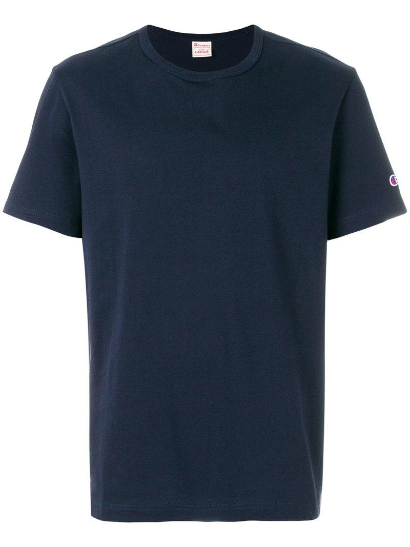 Lyst Champion Embroidered Logo T Shirt In Blue For Men