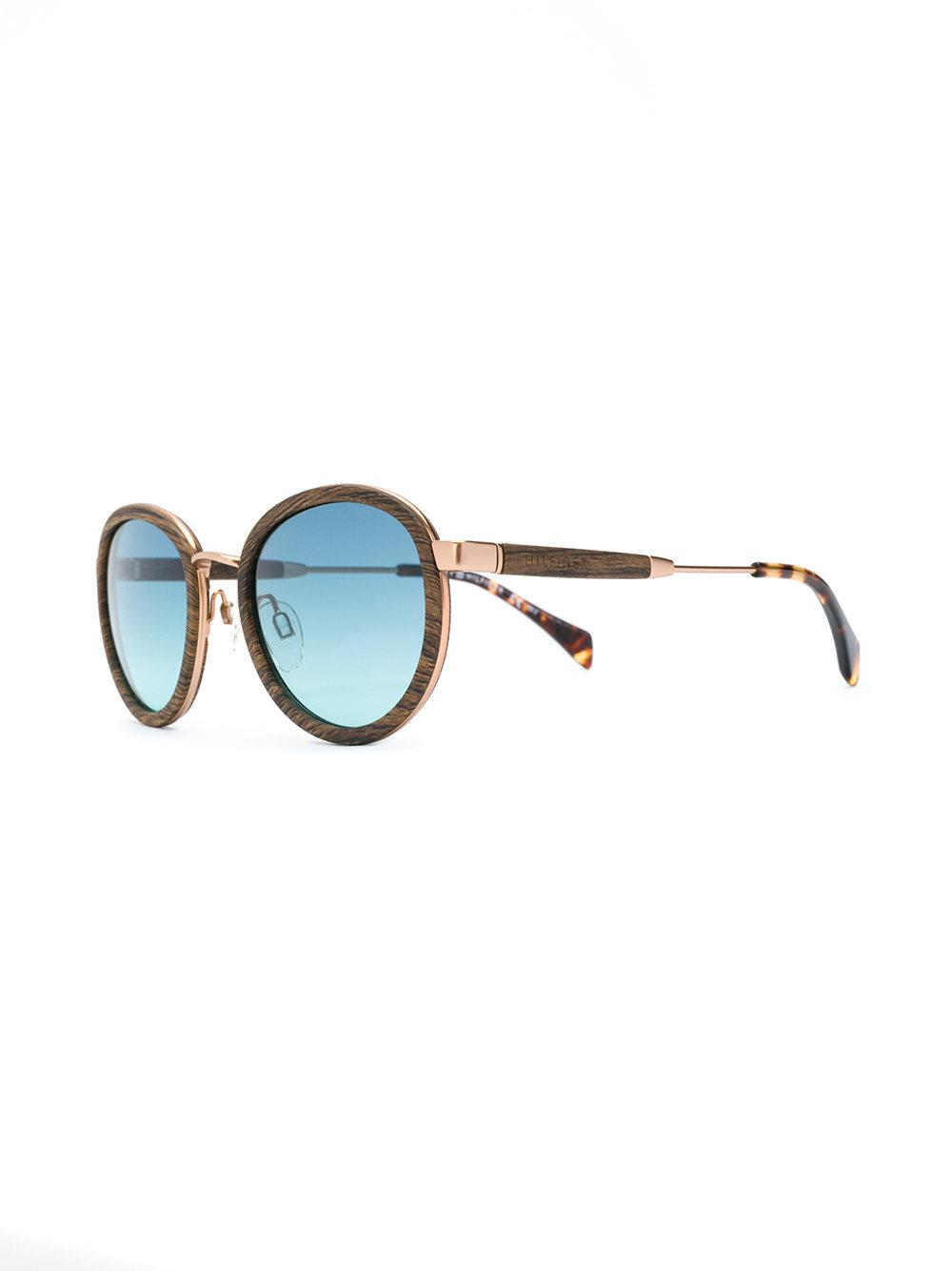 2cafeb52d74 Lyst - Tommy Hilfiger Wood Effect Sunglasses in Brown