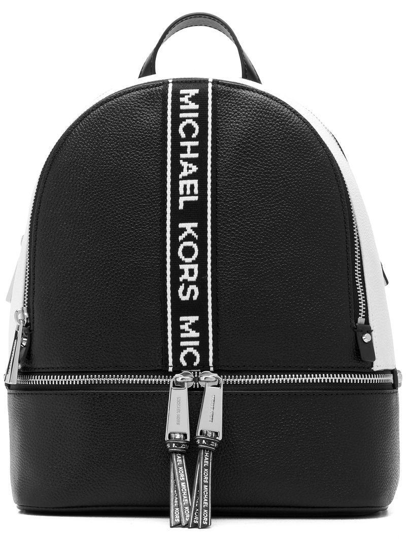 47befe521be2 MICHAEL Michael Kors Rhea Medium Backpack in Black - Save 68% - Lyst