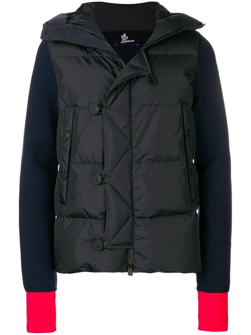 d82a09b1b1897 Moncler Grenoble Hooded Cardi Jacket in Blue for Men - Lyst