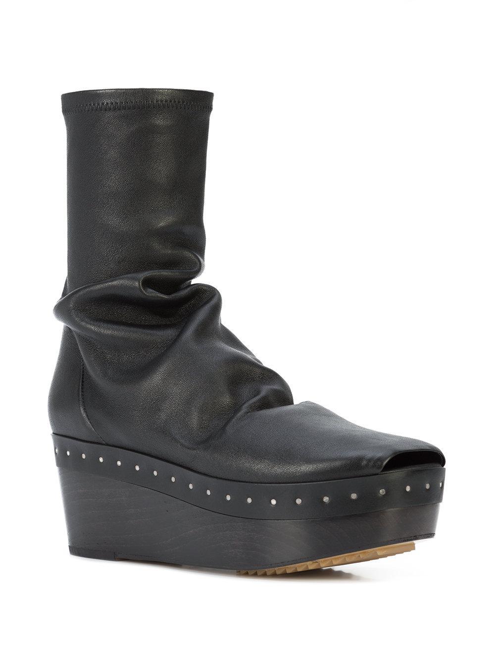 ef49624c792d Lyst - Rick Owens Sabot Sock Boots in Black - Save 57%