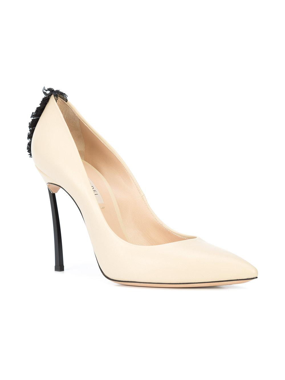 Shop For For Sale Nice Blade ruffle-trimmed pumps - Nude & Neutrals Casadei Wide Range Of Online eG5FhH