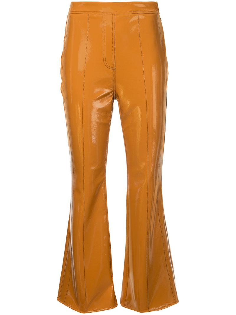 Outlaw flared cropped trousers - Brown Ellery b8s3WqDEjr