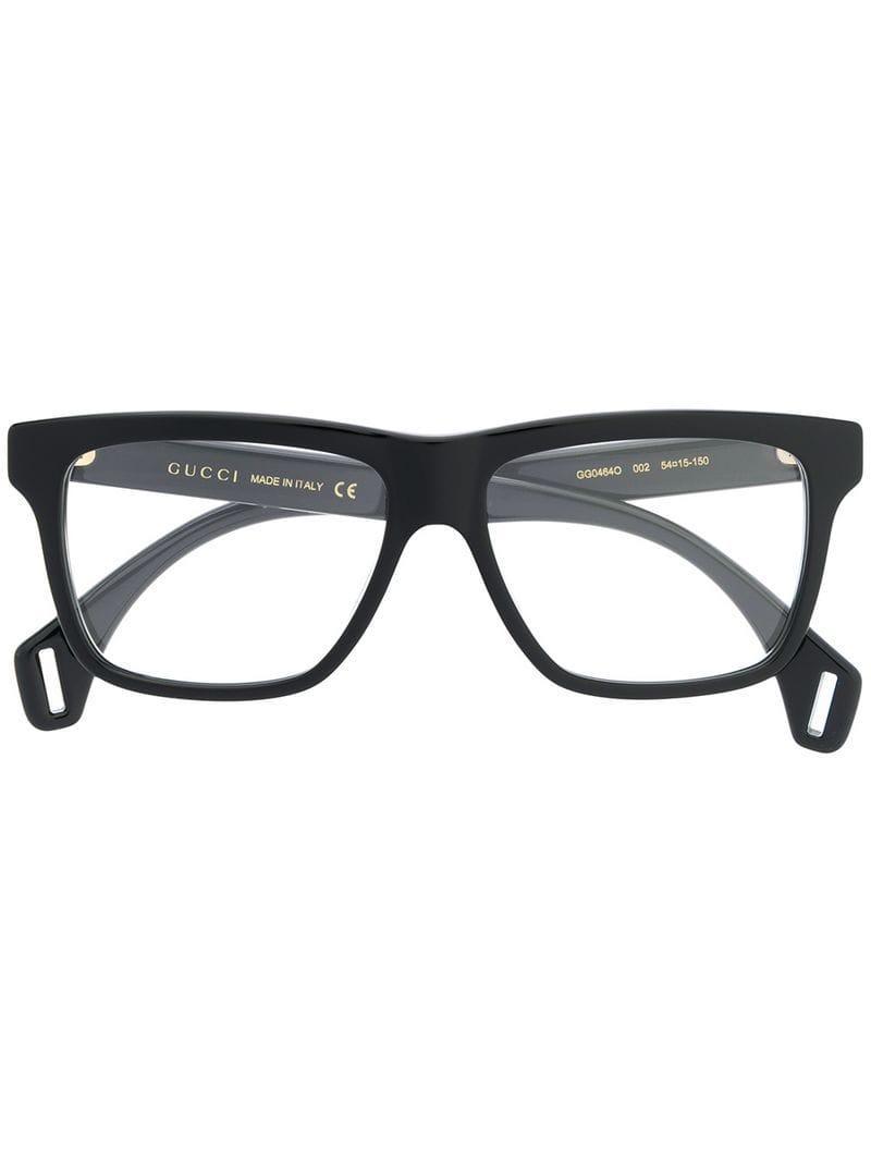 f771df5416 Gucci Wayfarer Frame Glasses in Black for Men - Lyst