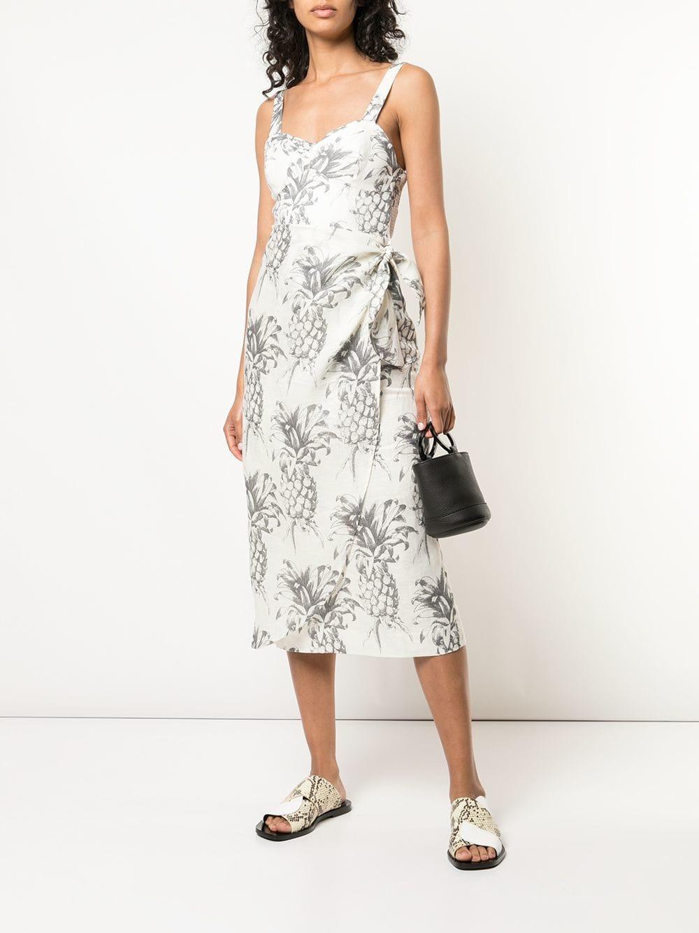 d939be08e64 Lyst - Zimmermann Pineapple Print Midi Dress in White