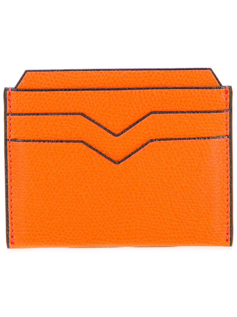 card holder zip wallet - Yellow & Orange Valextra GH2Lzo