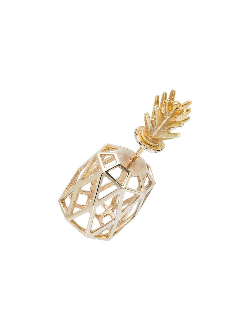 Natasha Zinko small pineapple earring - Metallic QuAWWBC2