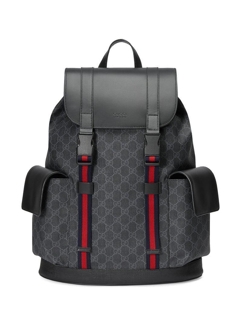0b9c3745cd97 Gucci Soft GG Supreme Backpack in Black for Men - Lyst