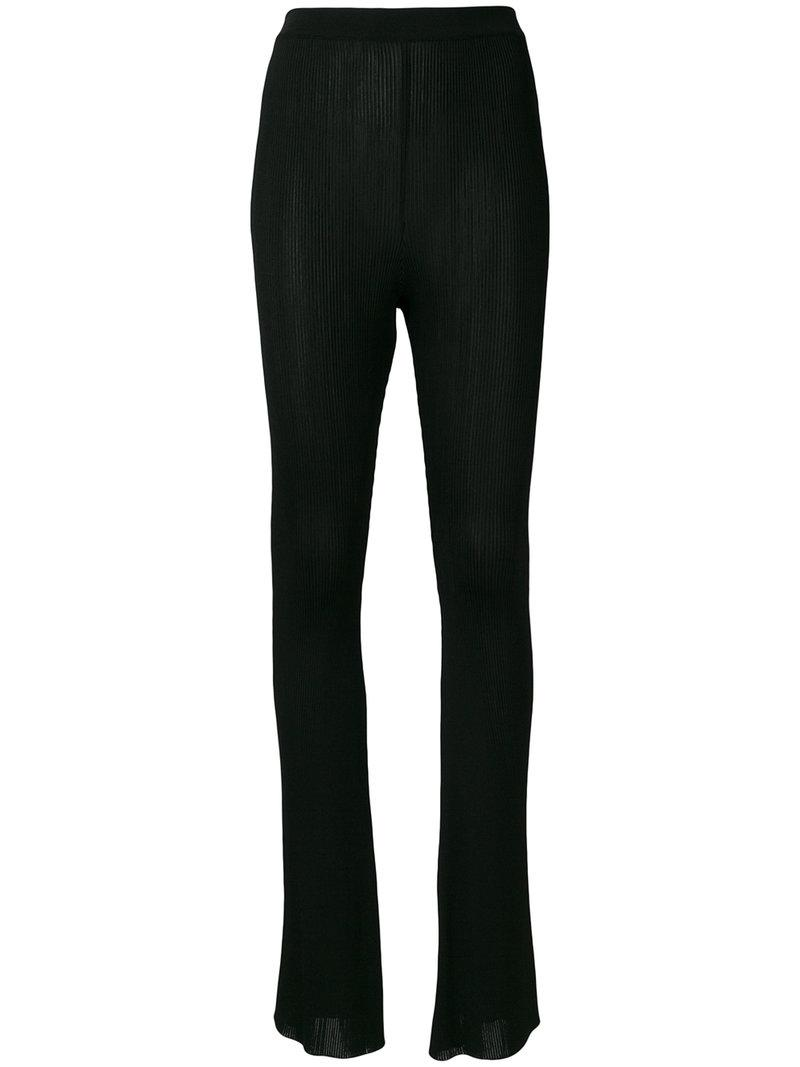 flared ribbed trousers - Black Givenchy oRbkD
