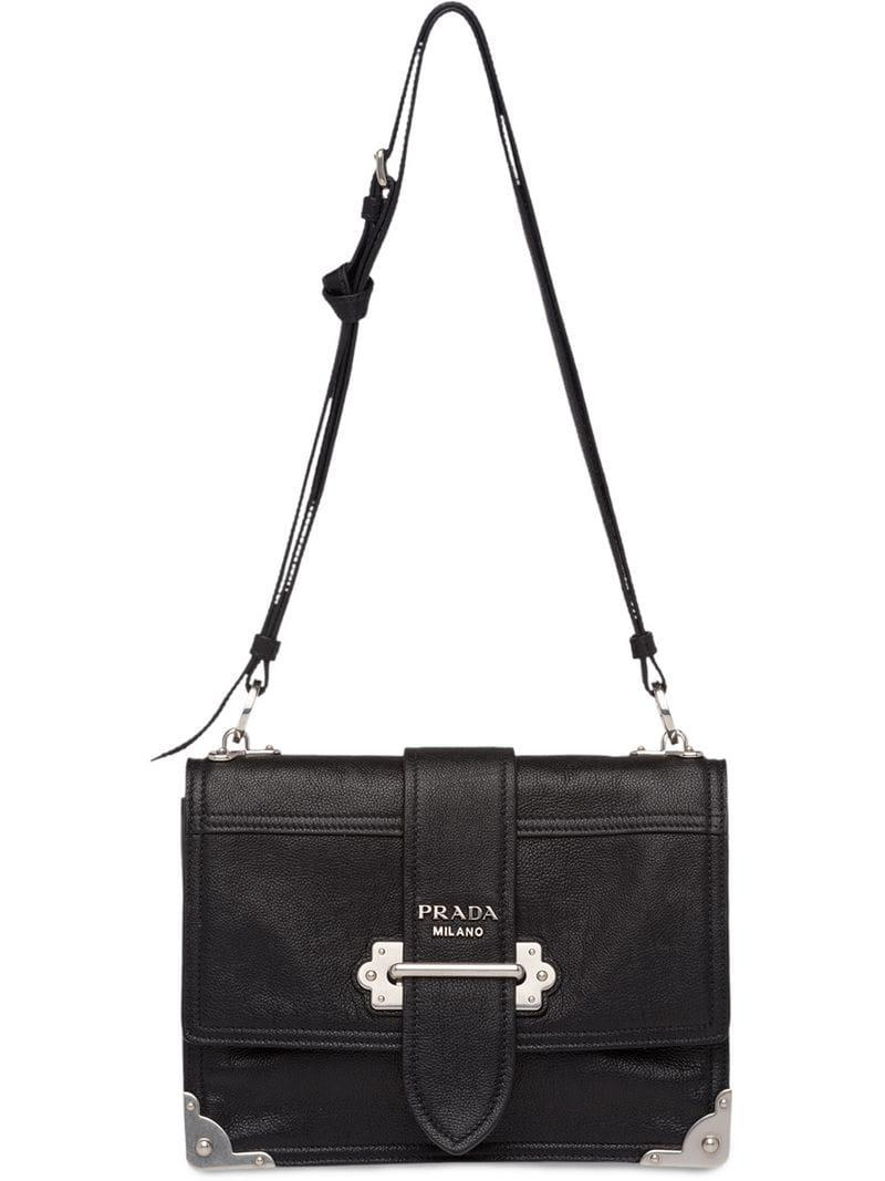 090ba59446c5 Lyst - Prada Cahier Shoulder Bag in Black