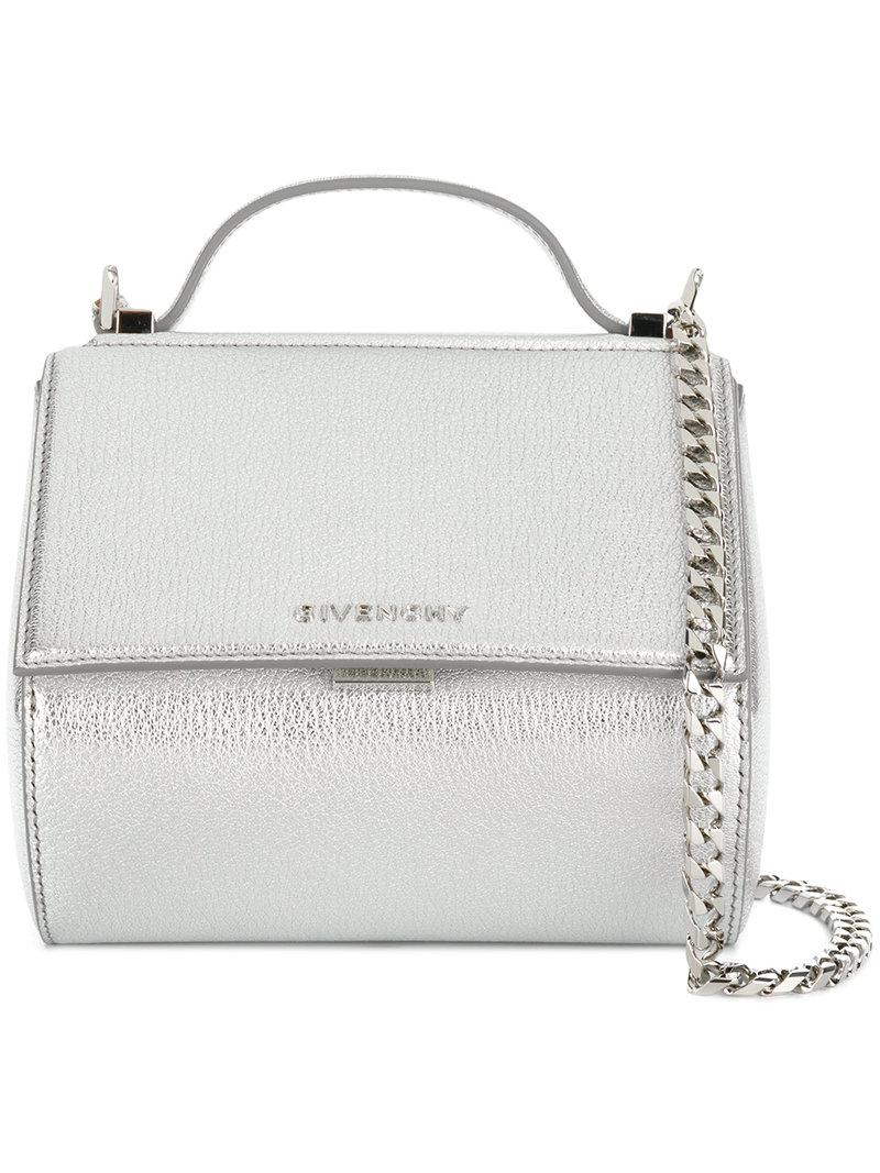 Givenchy Mini Pandora Box Chain Bag in Metallic - Save ... 8a6487316b1cb