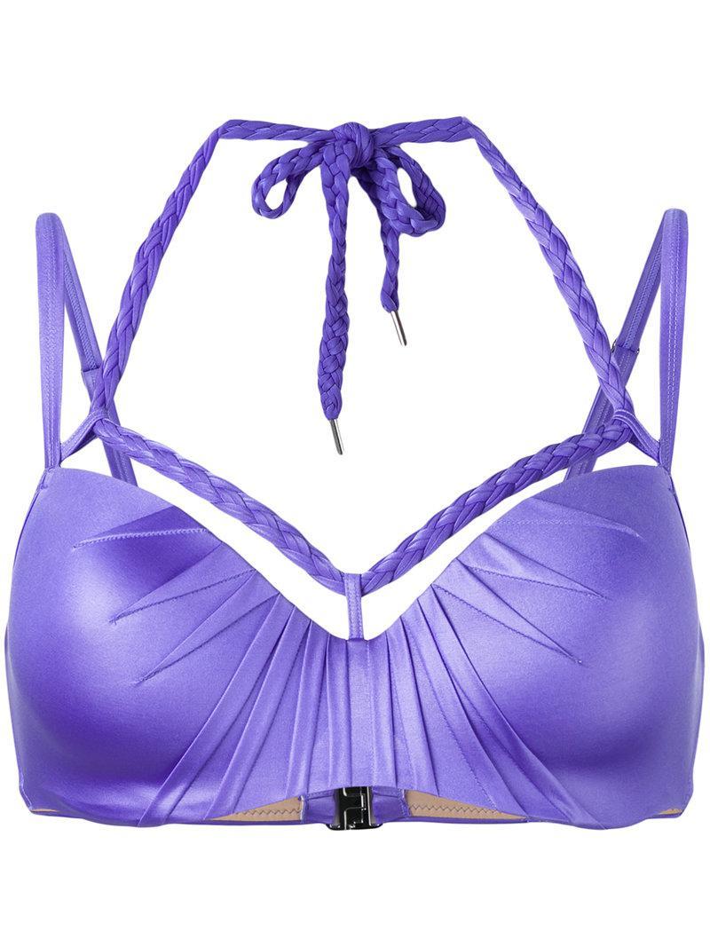 93e23069ea979 Lyst - Marlies Dekkers Holi Glamour Plunge Balcony Bikini Top D-size ...