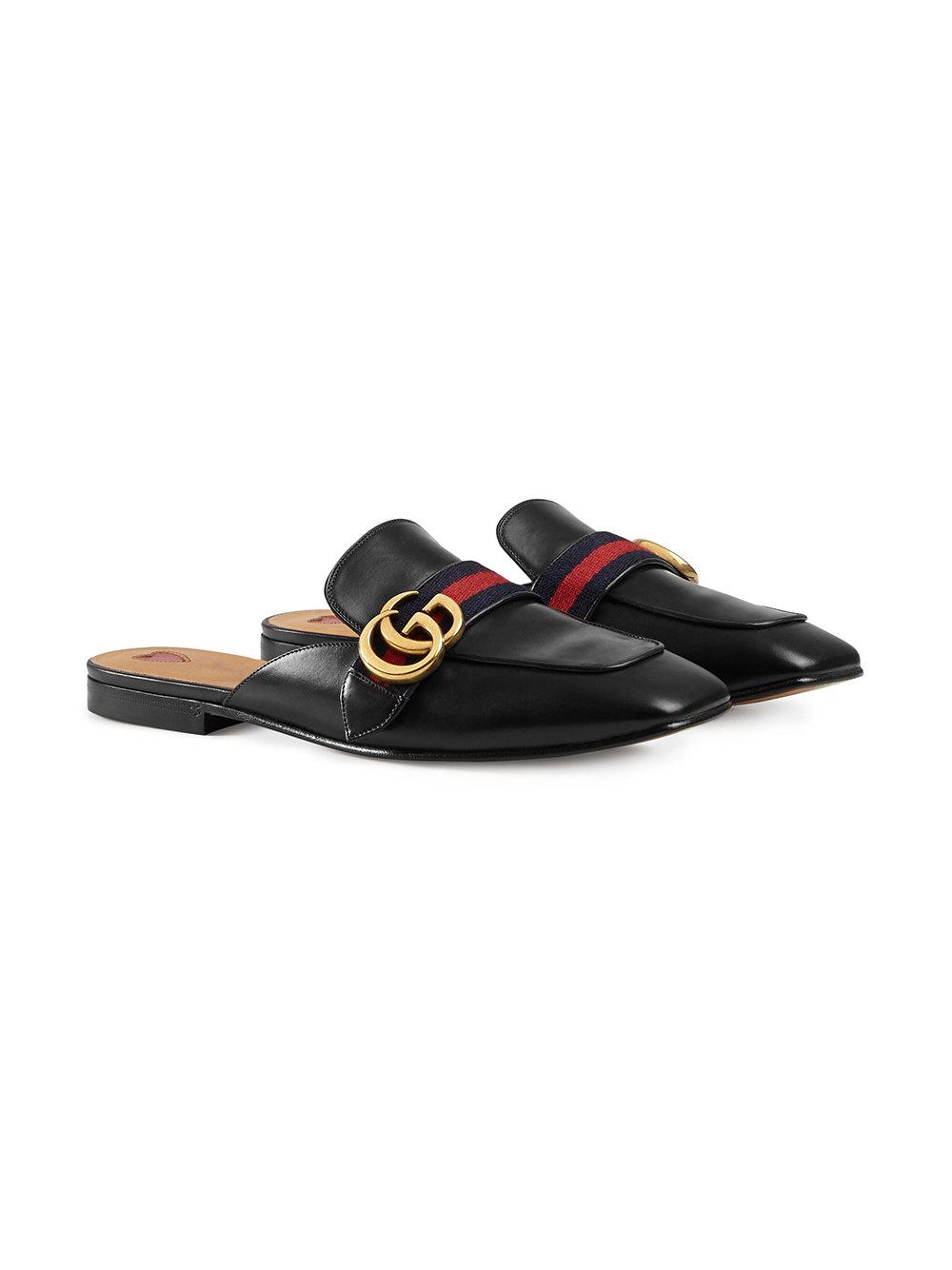 88fa0c3547c Lyst - Gucci Web-trimmed Slippers in Black