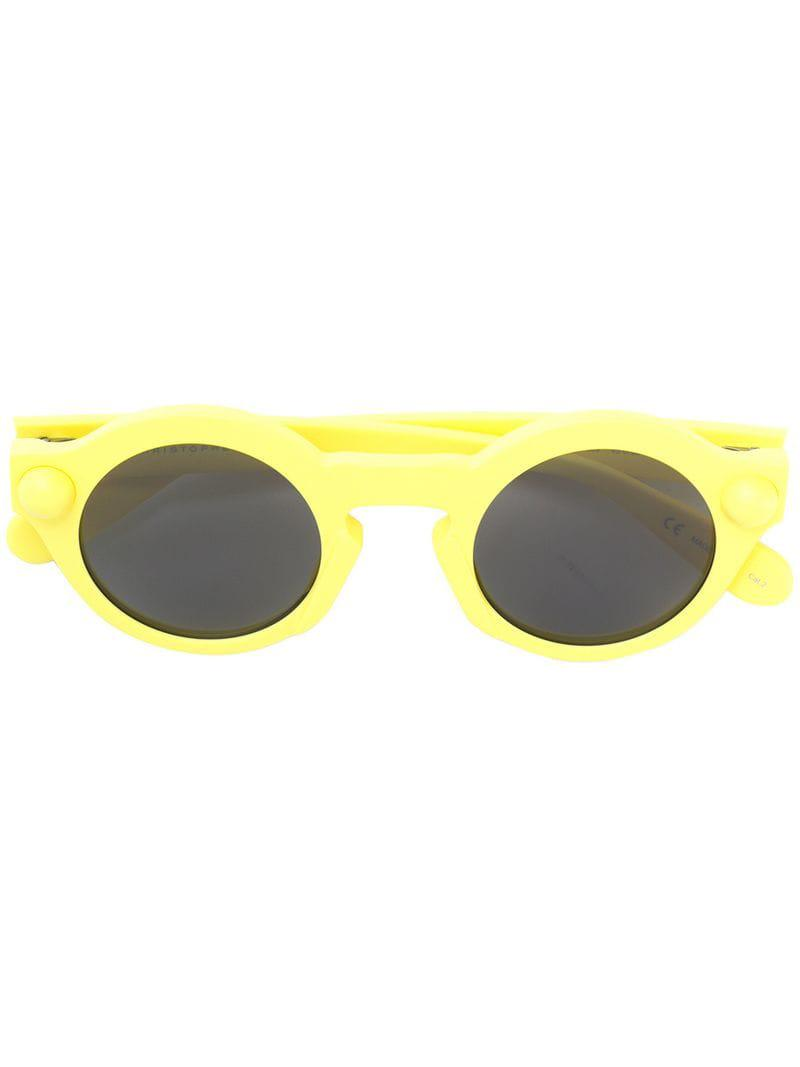 e947751373 Christopher Kane Round-frame Sunglasses in Yellow - Save ...