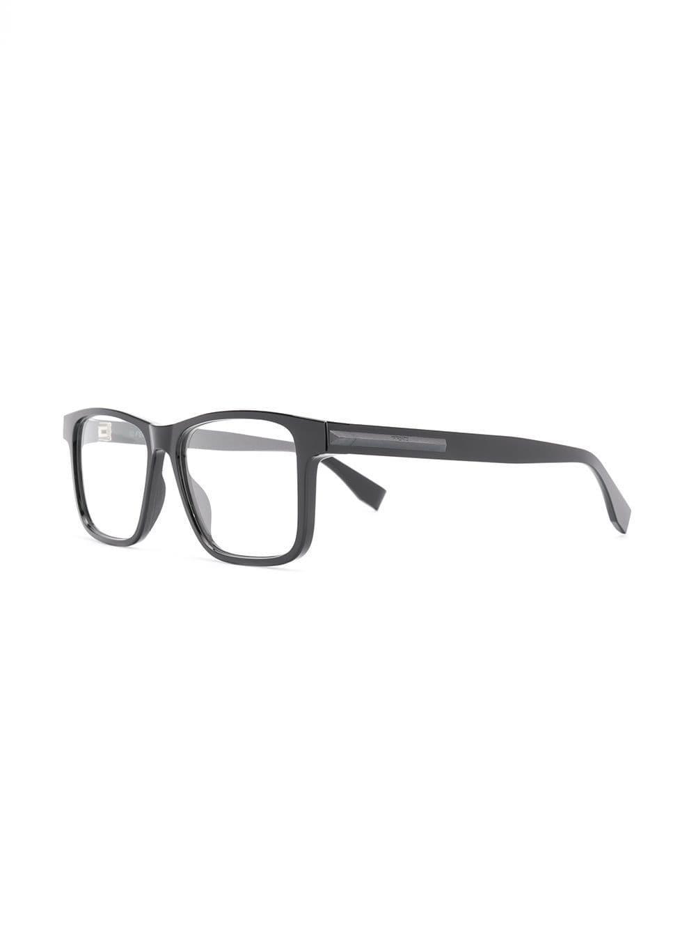 Lyst - Fendi Rectangle Frame Glasses in Black for Men