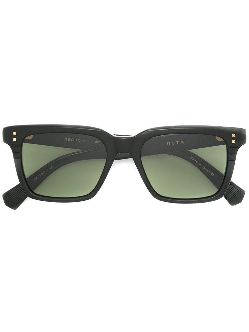37d4002c11b Dita Sequoia D Frame Acetate Sunglasses Mens Black
