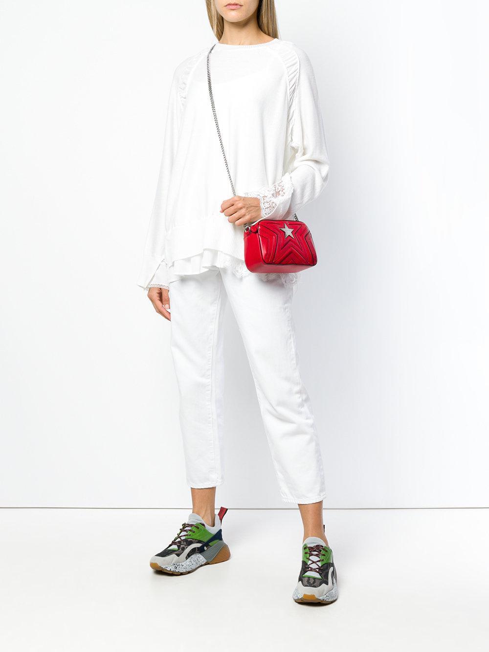 Lyst - Stella McCartney Star Cross Body Bag in Red - Save 40% 955f80925a429