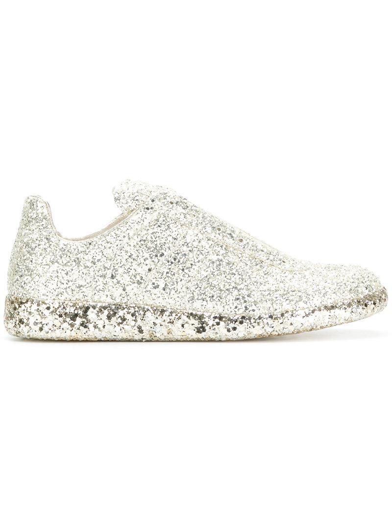 glitter slip-on sneakers - Metallic Maison Martin Margiela JlEKrAEi2h
