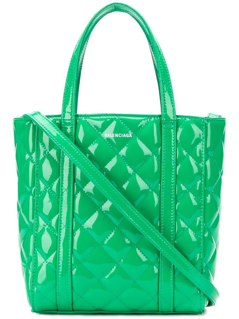 b3d1d69e4 Balenciaga - Green Exclusive To Farfetch - Everyday Xs Quilted Tote Bag -  Lyst. View fullscreen