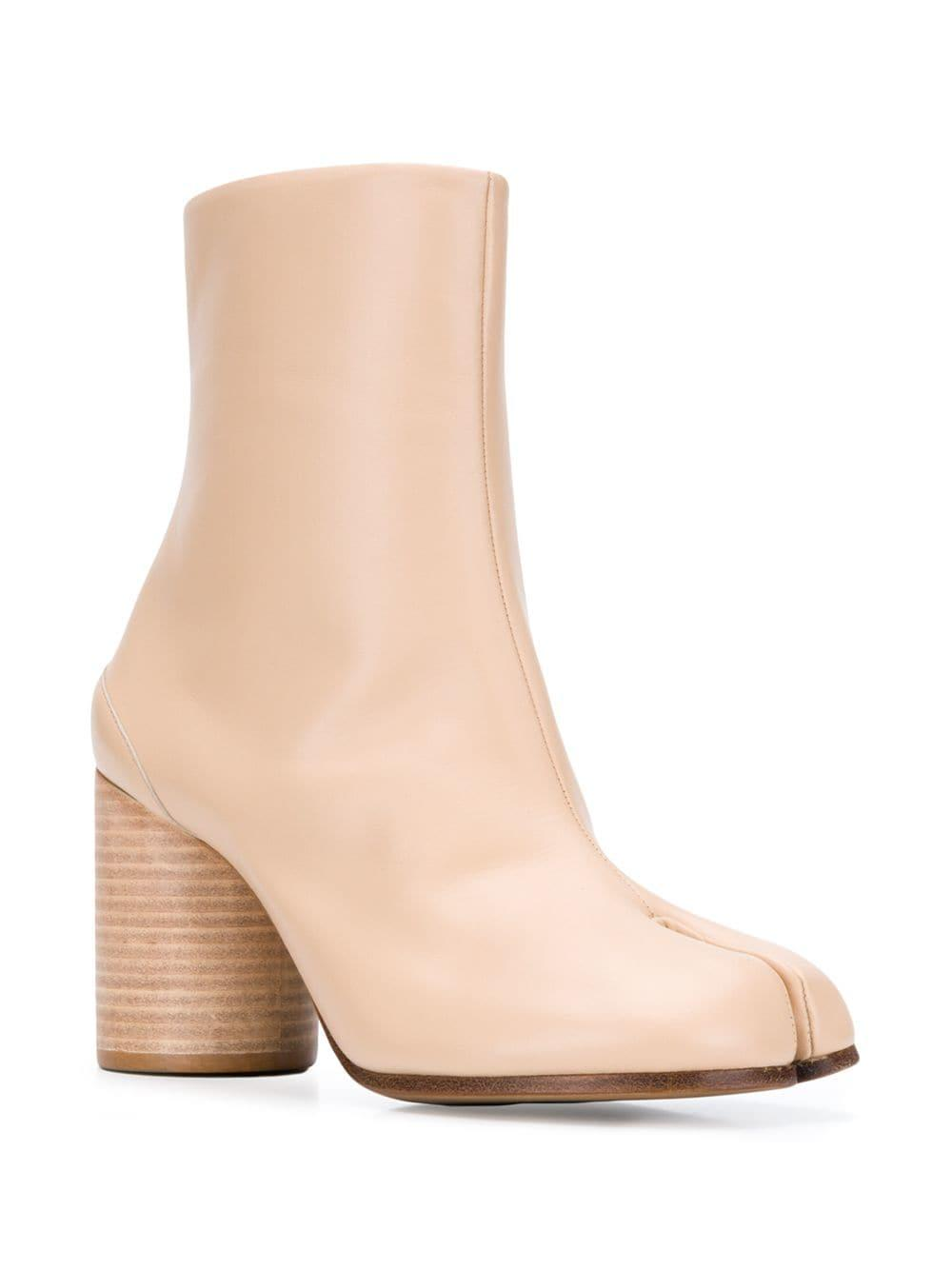 4d029c4278f Lyst - Maison Margiela Tabi Ankle Boots in Natural
