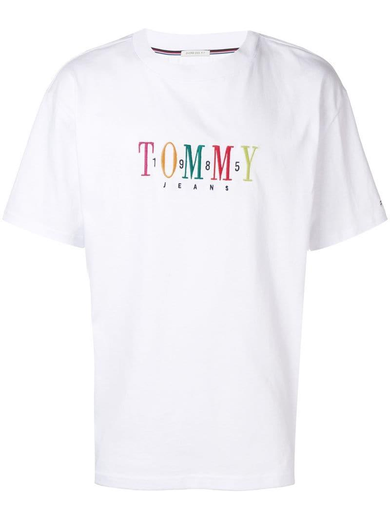 76a6d33736338f Lyst - Tommy Hilfiger Embroidered Logo T-shirt in White for Men