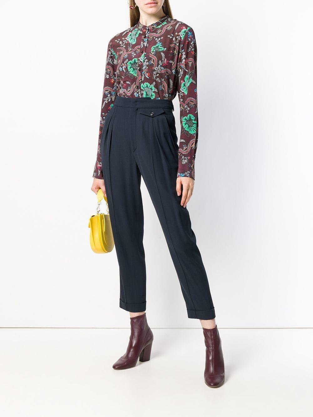 5b2cc0ad221cac Isabel Marant Rusak Printed Shirt in Red - Lyst