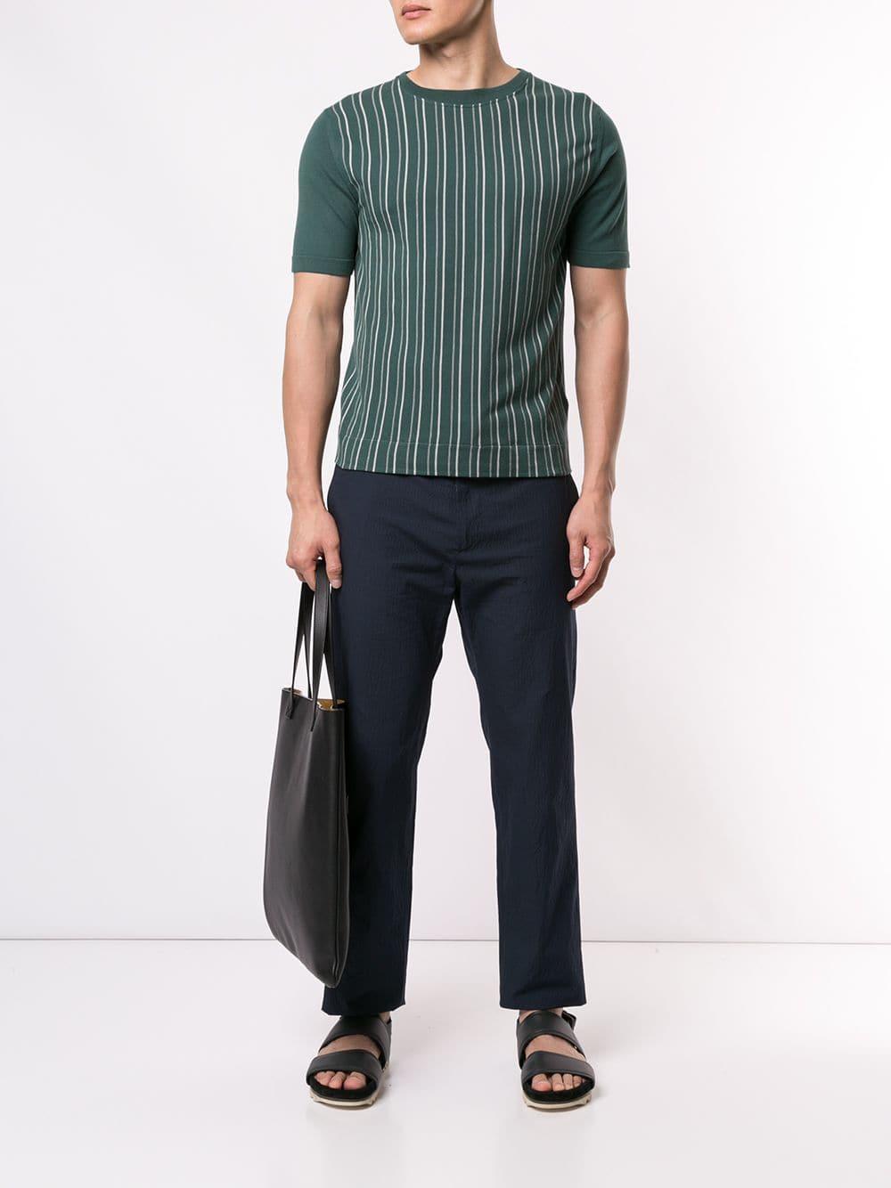bacbf6a5 Cerruti 1881 Striped T-shirt in Green for Men - Lyst