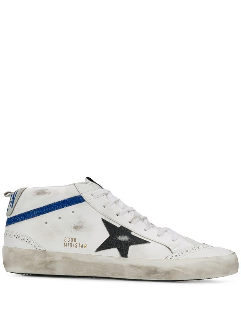 370bd8f41e68 Lyst - Golden Goose Deluxe Brand Mid Star Sneakers in White for Men