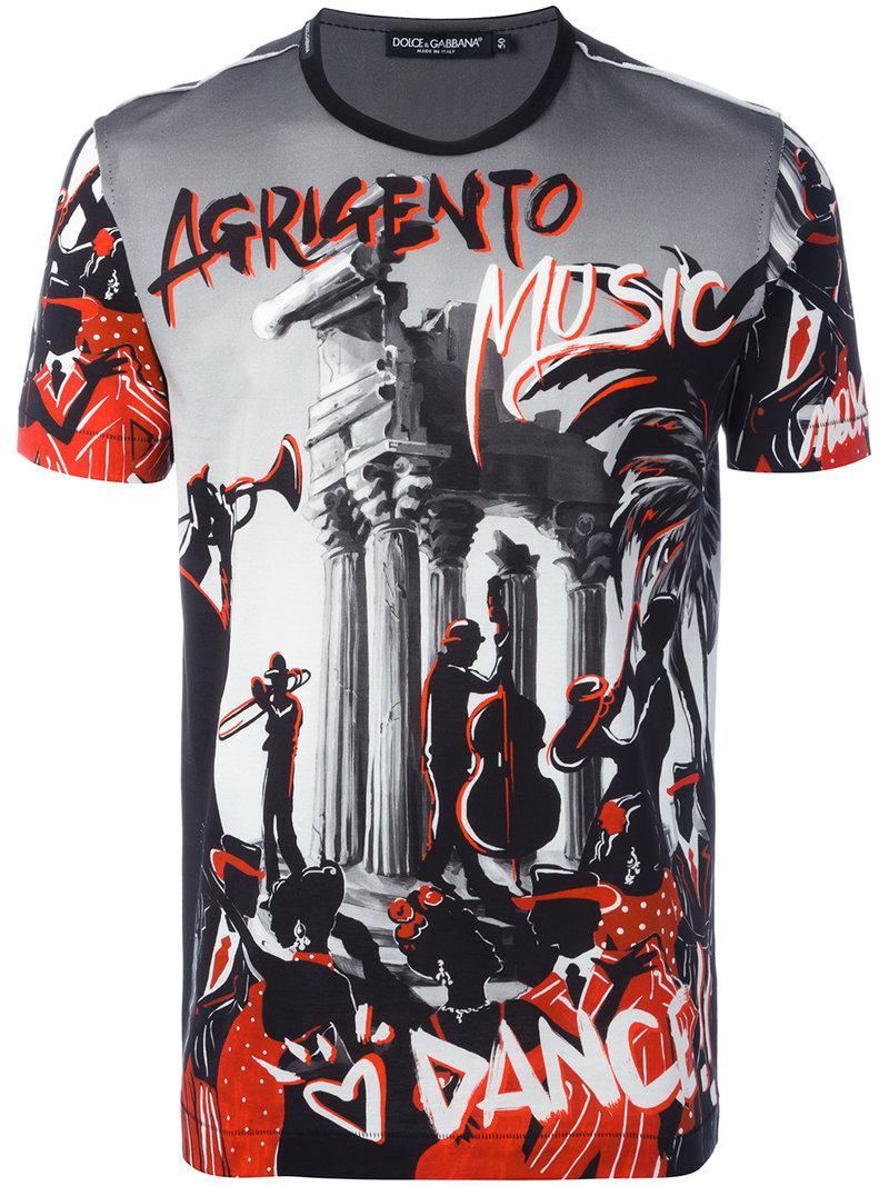 Lyst Dolce Gabbana Music Print T Shirt For Men Save 40