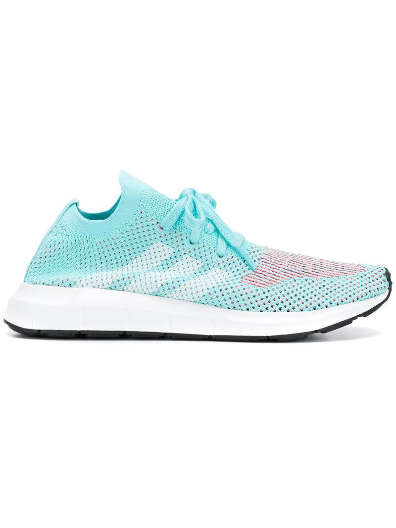 Lyst adidas originali swift run primeknit scarpe in blu