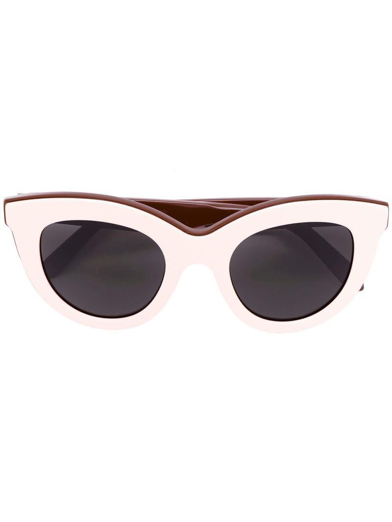 81f0df13d384 Victoria Beckham Layered Cat Eye Sunglasses in Pink - Lyst