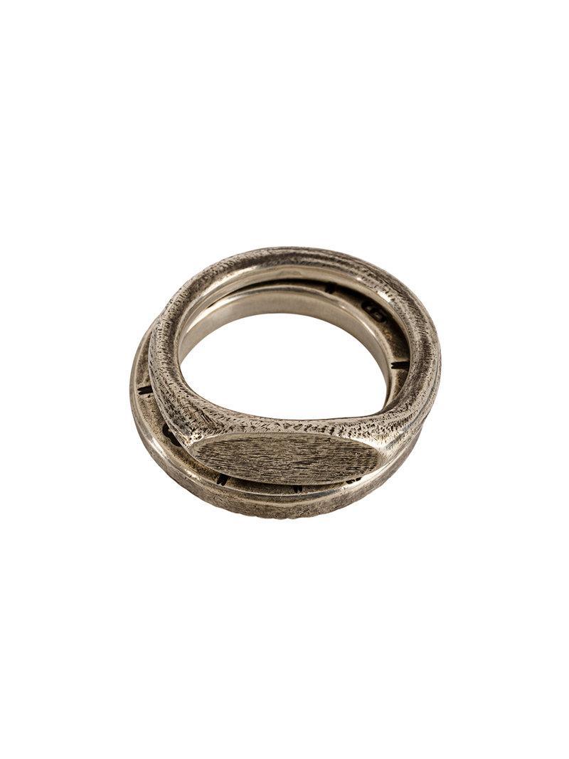 Werkstatt München embossed ring set - Metallic 6Efxx