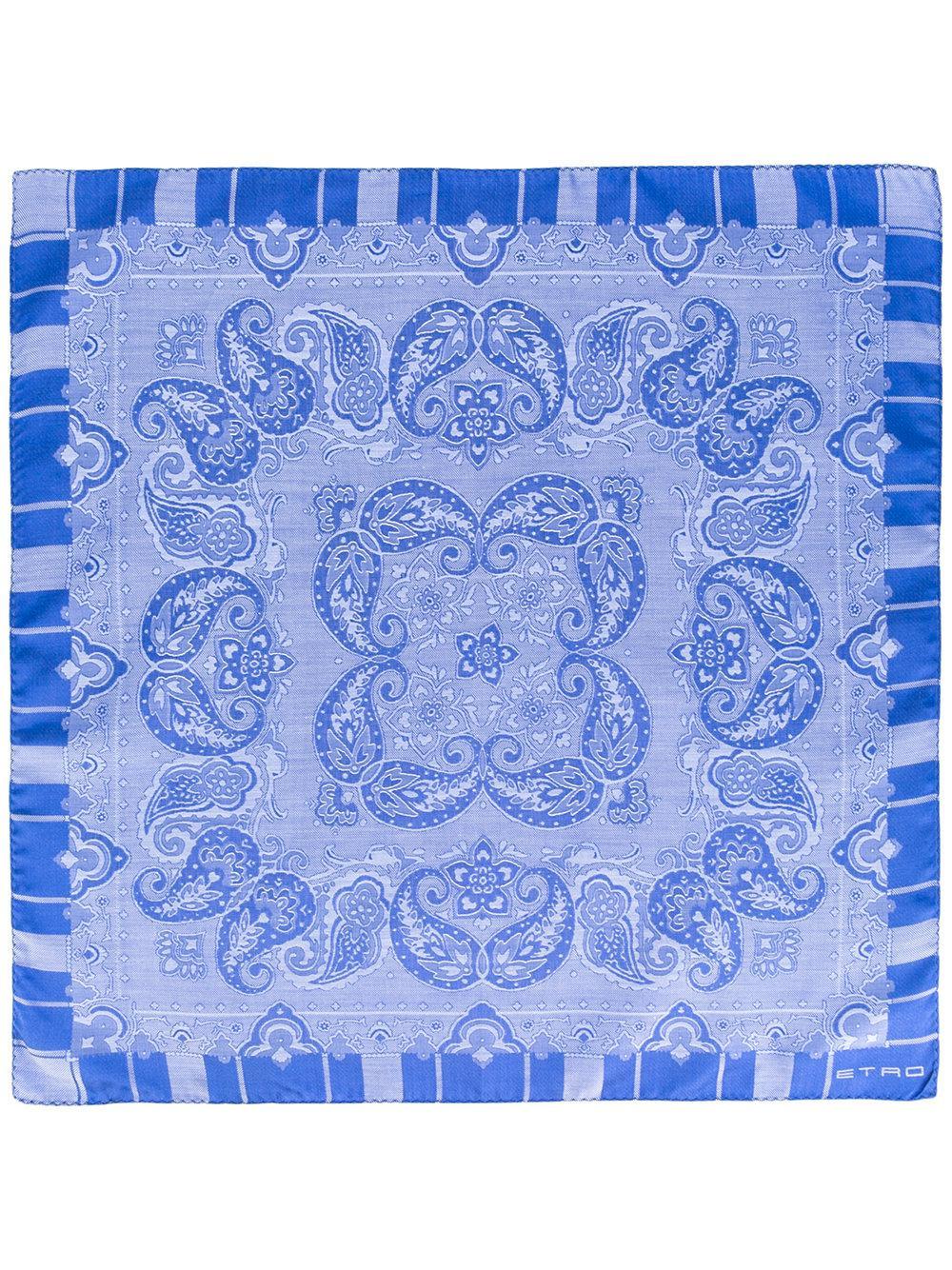 Lyst - Foulard à motif cachemire Etro pour homme en coloris Bleu b93f499b679f