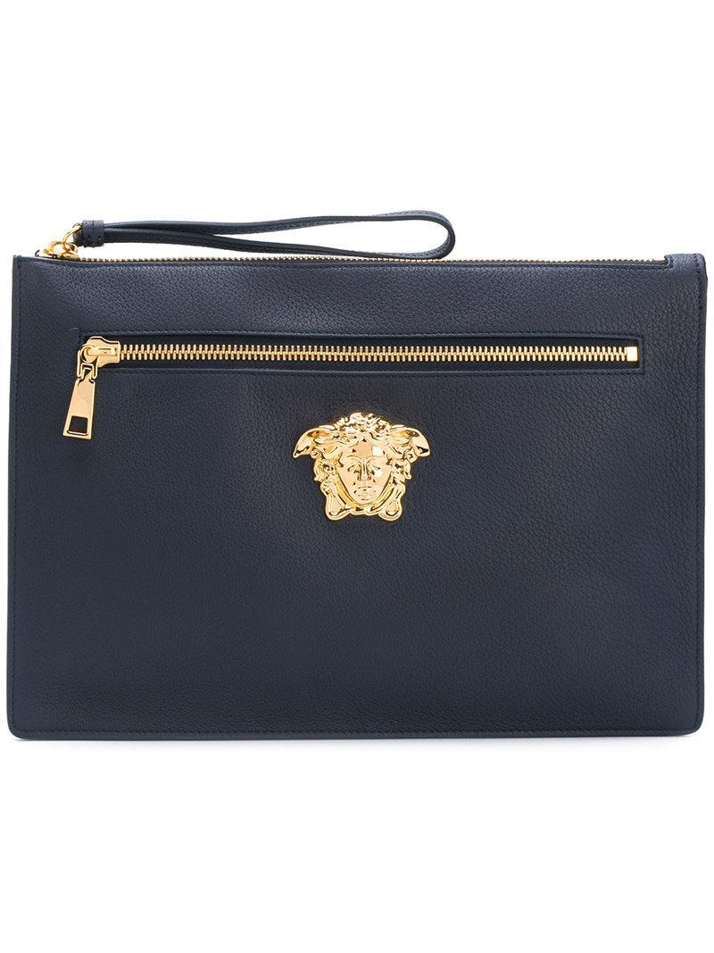 Lyst - Versace Medusa Clutch Bag in Blue for Men 96e58cf7b1a68