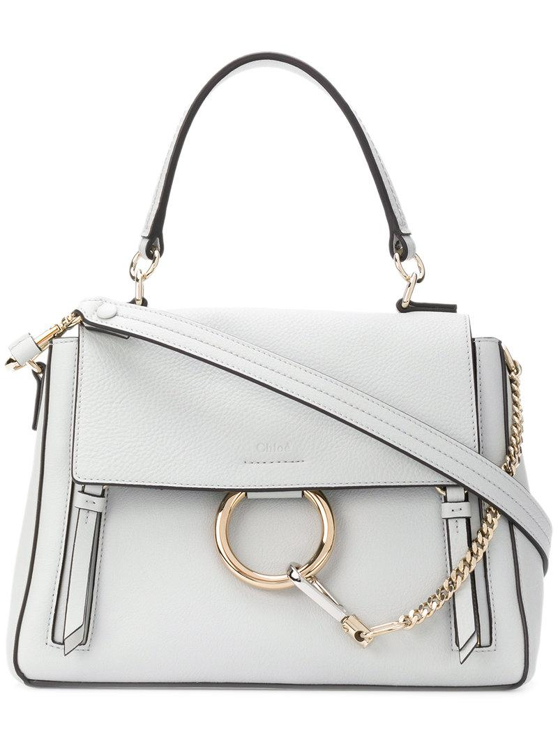 653bb96ae8dd Chloé Medium Faye Day Bag in Gray - Save 1% - Lyst