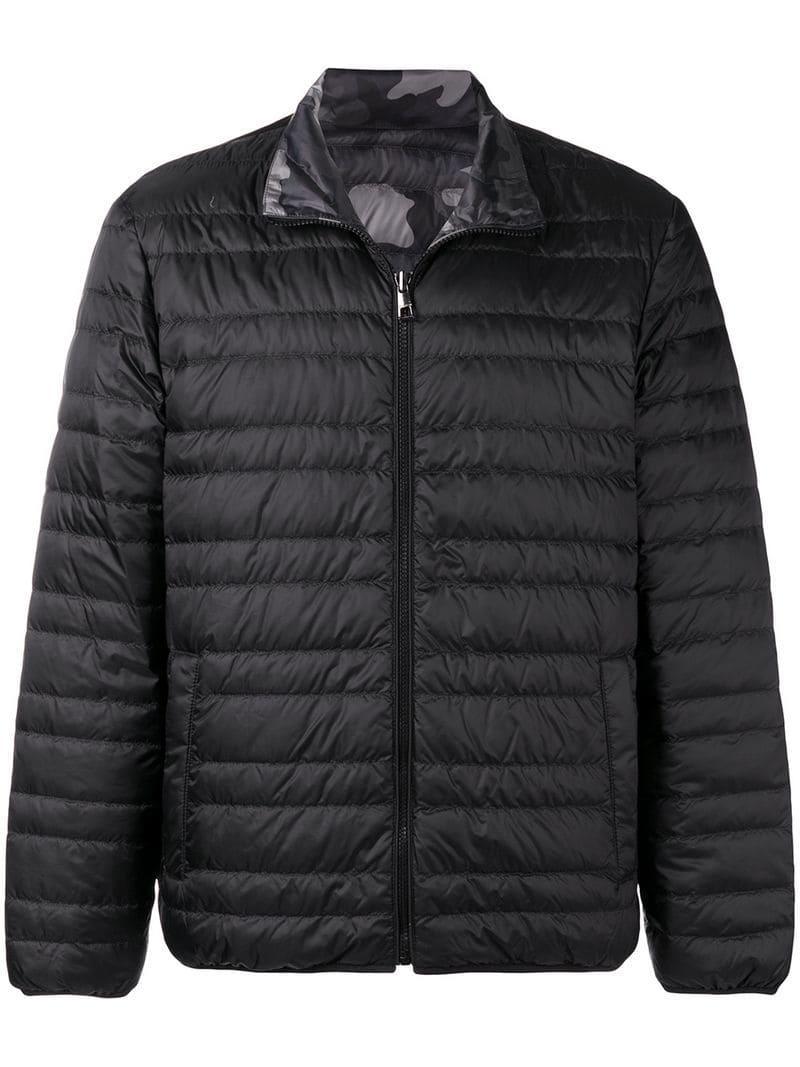 16256e33ba0de Lyst - Michael Michael Kors Reversible Quilted Jacket in Black for Men