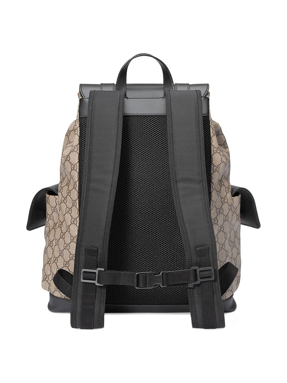 1ed6ce309121 Lyst - Gucci Soft GG Supreme Backpack in Brown for Men