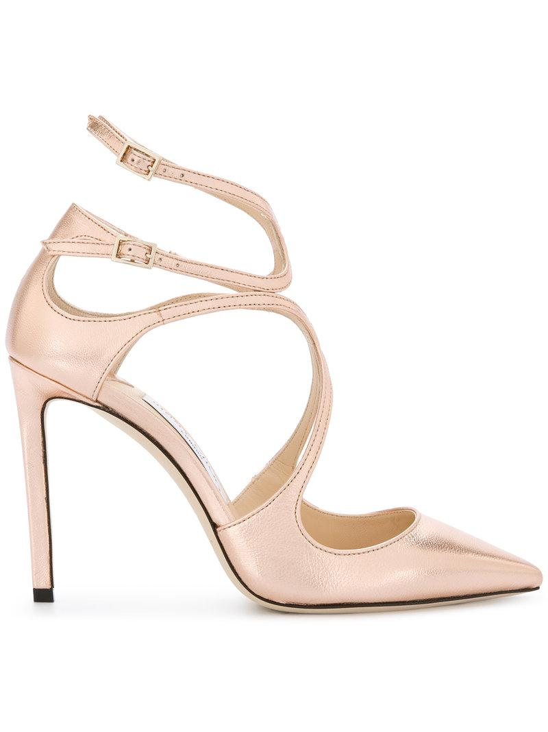Jimmy Choo Lancer 85 pumps - Pink & Purple farfetch beige