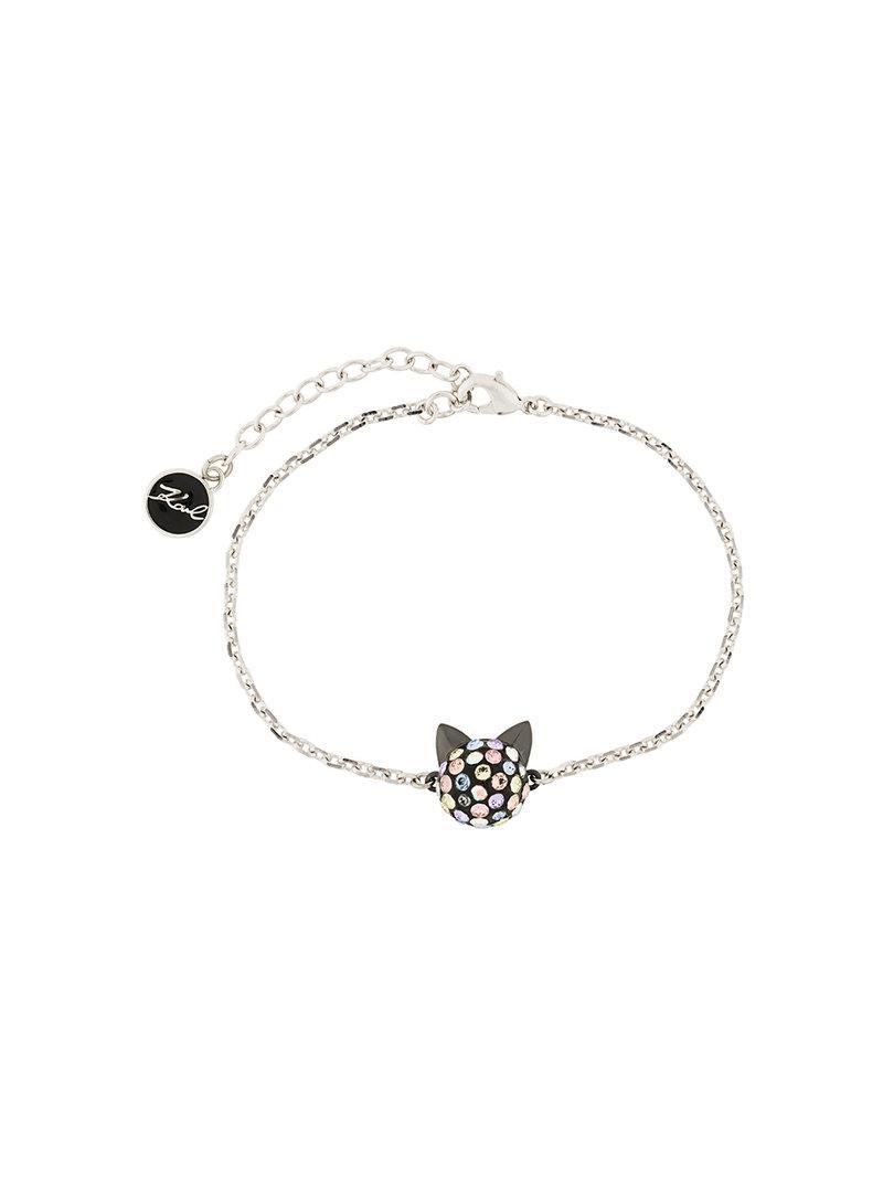 Karl Lagerfeld Cry Choupette Rainbow necklace - Metallic wNxGJPcYf