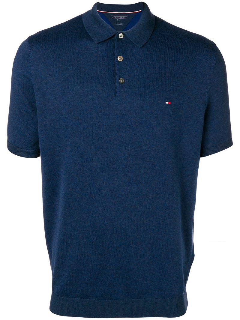 592329516470 Lyst - Tommy Hilfiger Logo-embroidered Polo Shirt in Blue for Men
